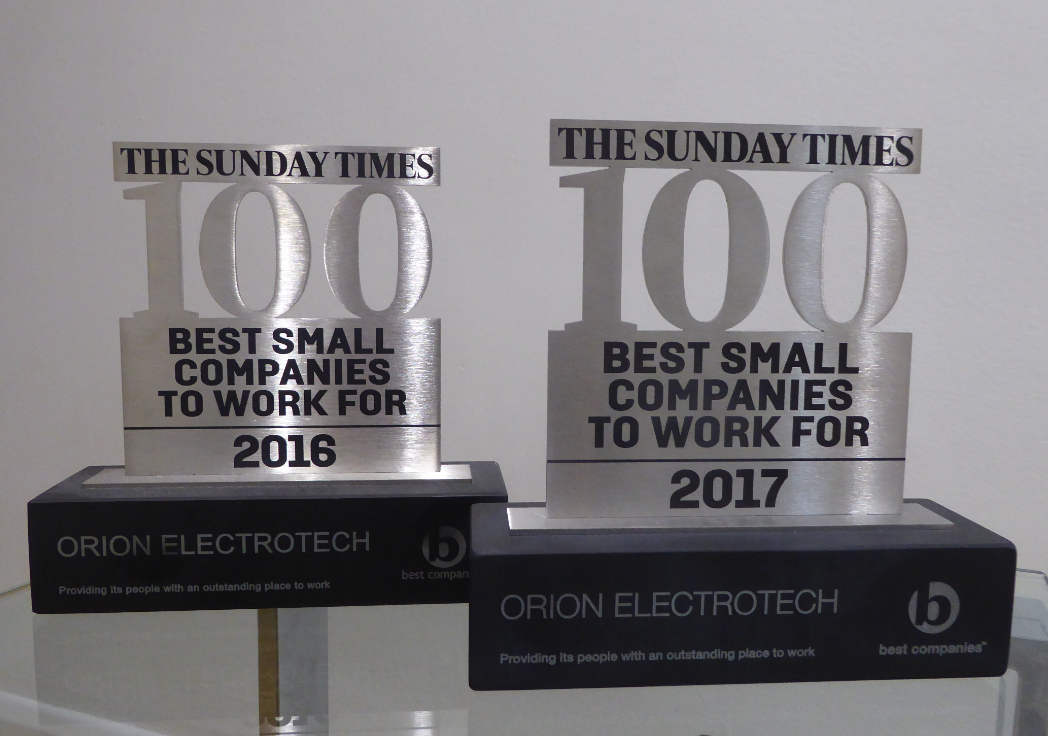 sunday times top 100 best small companies to work for 2017 orion